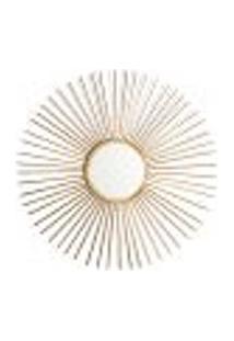 Espelho Decorativo Flex 70 X 70 Cm Dourado