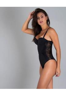 Body Duloren Com Bojo High Luxury - Feminino-Preto
