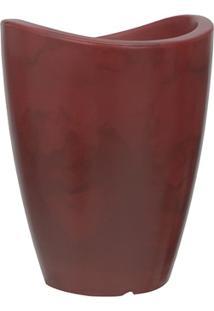 Vaso Em Polietileno Cone Copacabana 25X32Cm Antique Vermelho