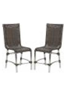 Cadeiras 2Un Para Area Varanda Fibra Sintetica Sala Cozinha Jardim Sacada Sevilha - Pedra Ferro