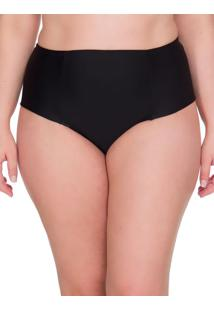 Calcinha Lateral Dupla Plus Size - Preto - 1Xl