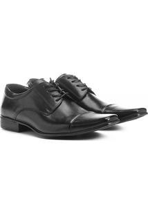 Sapato Social Couro Shoestock Bico Quadrado - Masculino-Preto
