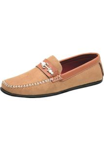 Mocassim Ousy Shoes Docksides Caramelo