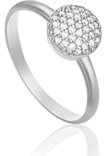 Anel Em Ouro Branco 18K Com Diamante - Florence 14