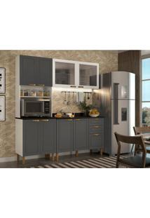Cozinha Compacta Nevada Ii 8 Pt 3 Gv Grafite E Branca