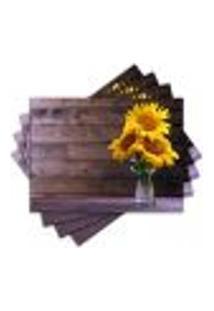Jogo Americano - Flores Com 4 Peças - 862Jo
