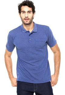 Camisa Polo Broken Rules Bolso Azul