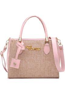 Bolsa Handbag Alice Monteiro Mão Tiracolo Palha Natural New - Feminino