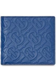 Burberry Carteira Com Padronagem Monogramada - Azul