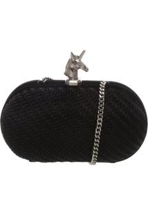 Clutch Velvet Unicorn Black | Schutz