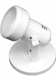 Spot De Sobrepor Em Alumínio Para 1 Lâmpada Baulado Branco