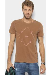 Camiseta Foxton Losango Fxtn Masculina - Masculino-Café