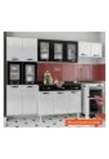 Cozinha Compacta Rubi Ii 11 Pt Branca E Preta