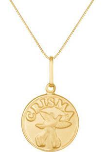 Pingente Medalha Ouro Amarelo Crisma