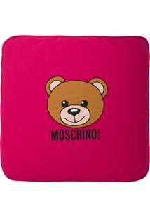 Moschino Kids Cobertor Com Estampa 'Teddy Bear' - Rosa