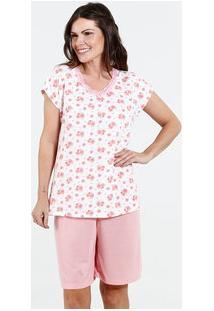 Pijama Feminino Bermudoll Estampa Flores Marisa