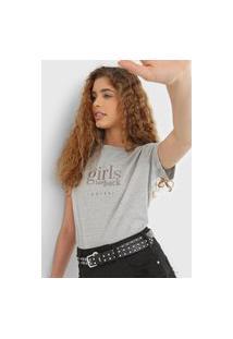 Camiseta Colcci Girls Cinza