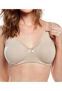 Sutiã Amamentação Decote Em Renda Mondress Maternity (8065/20145) Cotton