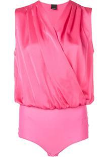 Pinko Body Sem Mangas - Rosa