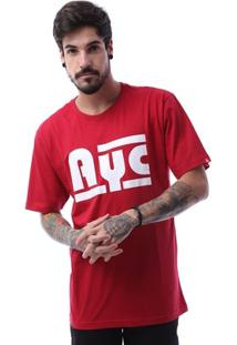 Camiseta Asphalt Ayc Double Stripe Masculina - Masculino-Vermelho