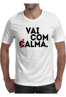 Camiseta Hunter Vai Com Calma Tira Branca