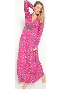 Camisola Longa Pã¡Ssaros- Pink & Off White- Jogãªjogãª