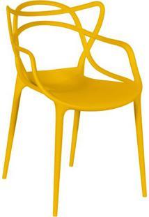 Cadeira De Jantar Solna- Amarela- 83,5X54X43Cm- Or Design