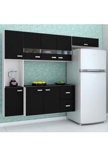 Cozinha Compacta Julia 4 Peças 8 Portas 2 Gavetas Poquema