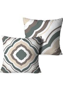 Kit 2 Capas Love Decor Para Almofadas Decorativas Geometric Multicolorido Cinza