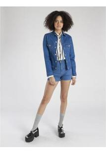 Jaqueta Amapô Skinny Feminina - Feminino-Azul Royal