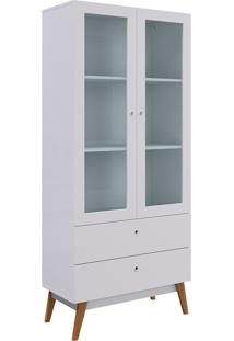 Cristaleira Com 2 Portas De Vidro Ibiza - Genialflex - Branco