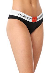 Kit 2Peças Calvin Klein Underwear Tanga Lettering Cinza/Preto