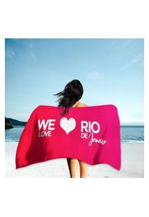 Toalha De Praia / Banho We Love Rio De Janeiro Único