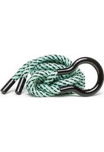 Cinto Cintura Quadril Fino Corda Com Pesponto Azul