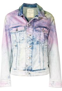 Zadig&Voltaire Jaqueta Jeans Com Estampa Tie Dye - Azul