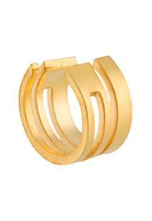 Hsu Jewellery Ear Cuff Geométrico - Dourado