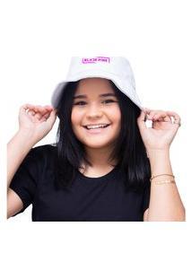 Chapéu Bucket Unissex Personalizado Banda Black Pink - Branco