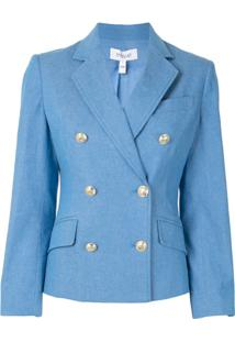 Derek Lam 10 Crosby Fitted Double-Breasted Blazer - Azul