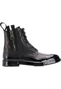 Dolce & Gabbana Ankle Boot Com Amarração - Preto