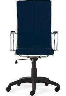 Cadeira Donati - Encosto Alto - Azul Marinho