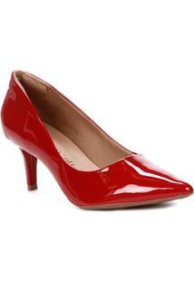 Sapato Scarpin Feminino Crysalis Vermelho