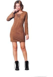 f1cc49d29 Vestido Com Manga Suede feminino | Shoelover