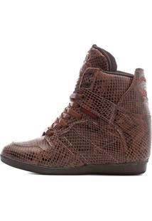 Bota Snearkers By Cris Piza Landfeet - Marrom - Feminino - Dafiti