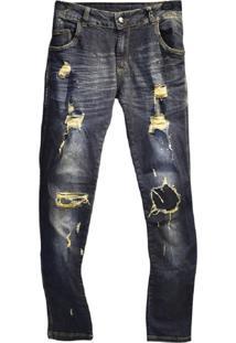Calça Jeans Destroyed Macchina Lab