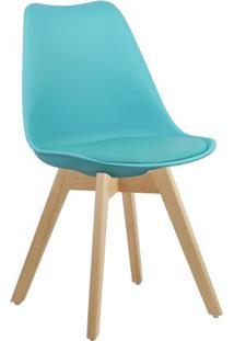 Cadeira Azul Tiffany Charles Eames Style Soft Wood Em Pp