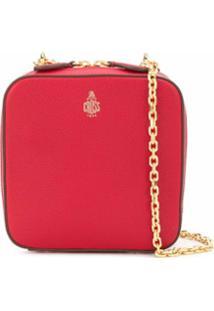 Mark Cross Bolsa Estruturada - Vermelho