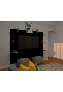 Painel Para Tv Até 60 Polegadas Lais Preto 180X218 Cm