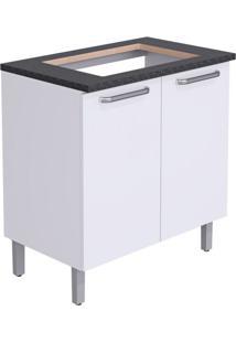 Balcão De Cozinha Cacau Ii ]Para Cooktop 2 Pt Branco