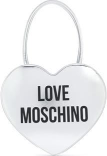Love Moschino Bolsa Tiracolo Em Formato De Coração - Prateado