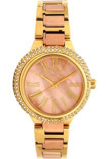 Relógio Digital Dourado Michael Kors feminino   Shoelover 950ac550db
